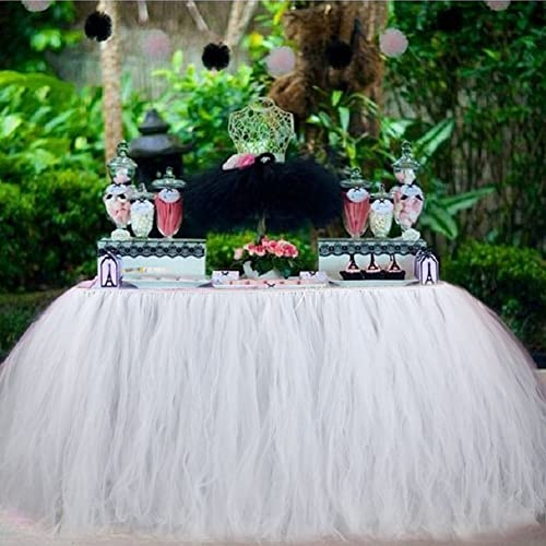 Aytai TUTU Table Skirt Tulle Tableware 100 X 80CM Wonderland Skirting Romantic For Wedding Christmas Party