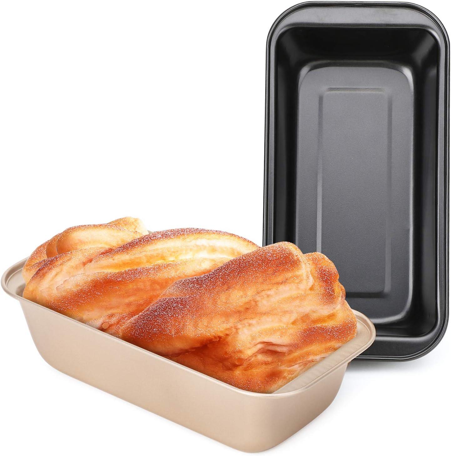قوالب خبز غير لاصق بيسيا، مجموعة من 2 الأسود والذهبي