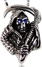 Sickle Death Punk influx of titanium steel skull pendant necklace ornaments