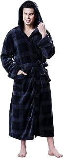 Charcoal SweetNeedle Mens Big /& Tall Terry Bathrobe with Pockets