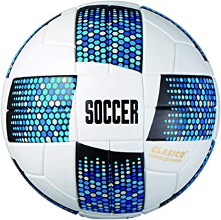 Actvivid Traditional Laminated Soccer Ball with Blue Mosaic Size: 5