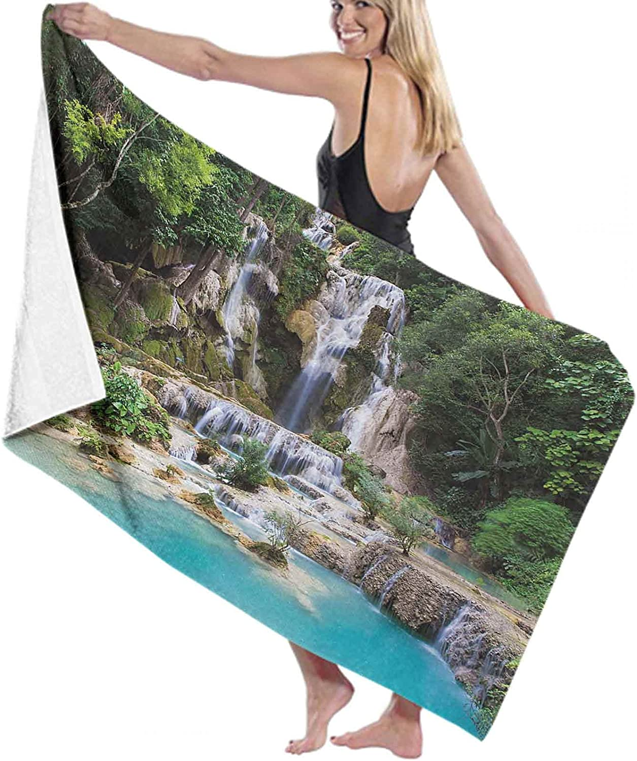 Regular store Waterfall Bath Price reduction Towel Quick Dry in and Corne Absorbent