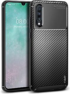 comprar comparacion J&D Compatible para Galaxy A70 Funda, Fibra Carbono Parachoques Ligero Protección contra Caídas Resistente Funda TPU...