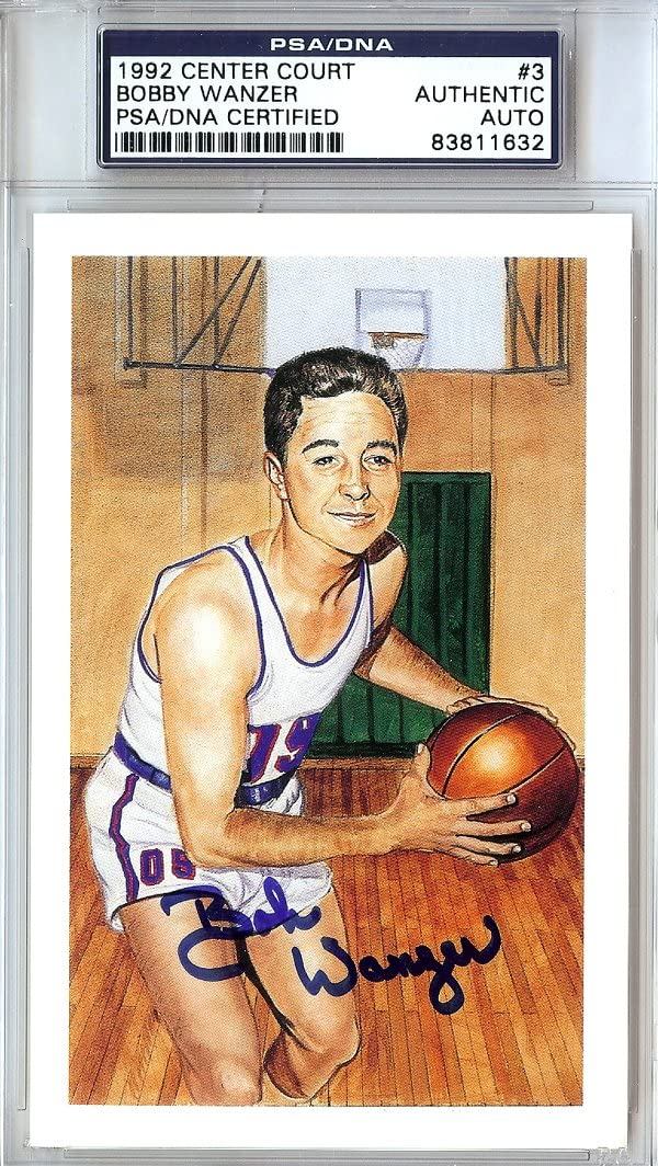 Bobby Wanzer Autographed 1992 Center Court Card #3 Challenge the lowest price Outlet SALE PSA DN Royals