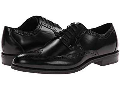 Stacy Adams Garrison Wingtip Oxford (Black Leather) Men