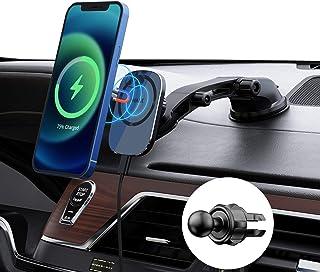 iWALK Suporte carregador magnético sem fio para carro, suporte de carregamento rápido sem fio de 15 W com ventosa e saída ...
