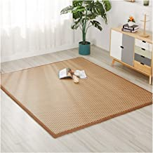 Summer Area Rug Collapsible Bamboo Carpet Cover Mat 2cm Thickness Broadside Dormitory Sleeping Pad Exercise Mat for Medita...