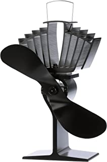 ECOFAN AirMax Wood Stove Fan, Large, Black Blade