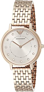 Emporio Armani Women's 'Dress Quartz Stainless Steel Casual Watch, (Ar11062), Pink Band, Analog Display