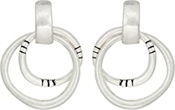 The Sak Double Ring Drop Earrings
