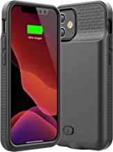 Allezru Battery Case for iPhone 12 Mini, 3600mAh Portable Protective Charger Case Rechargeable Extended Battery Pack Charg...
