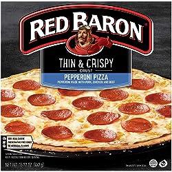 Red Baron Pizza, Thin & Crispy Pepperoni, 15.77 Oz