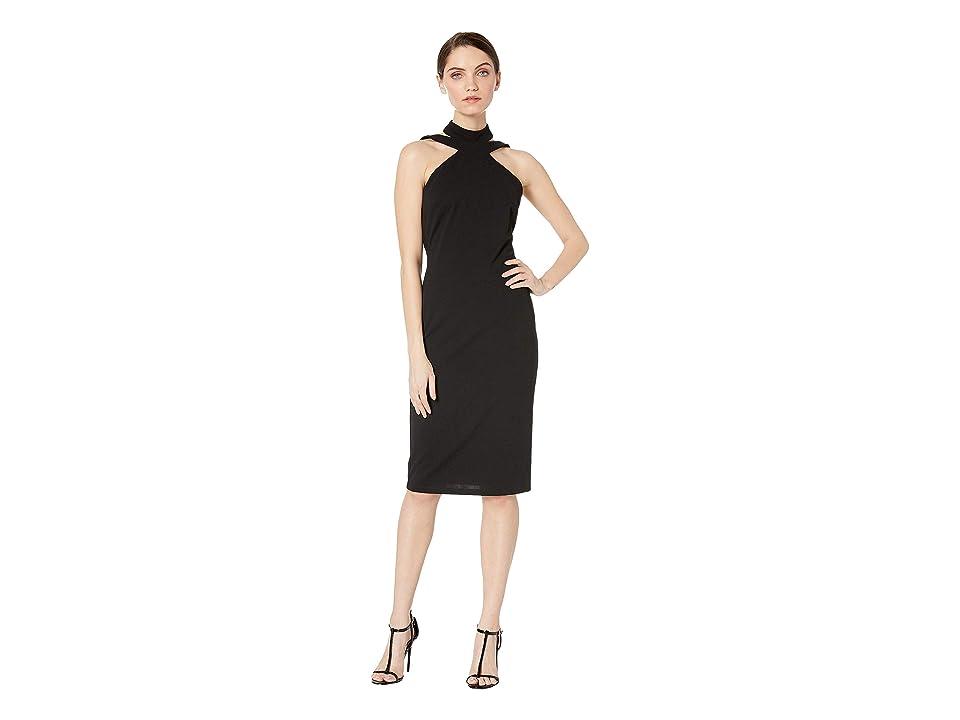 Bebe Bodycon Halter Dress (Black) Women