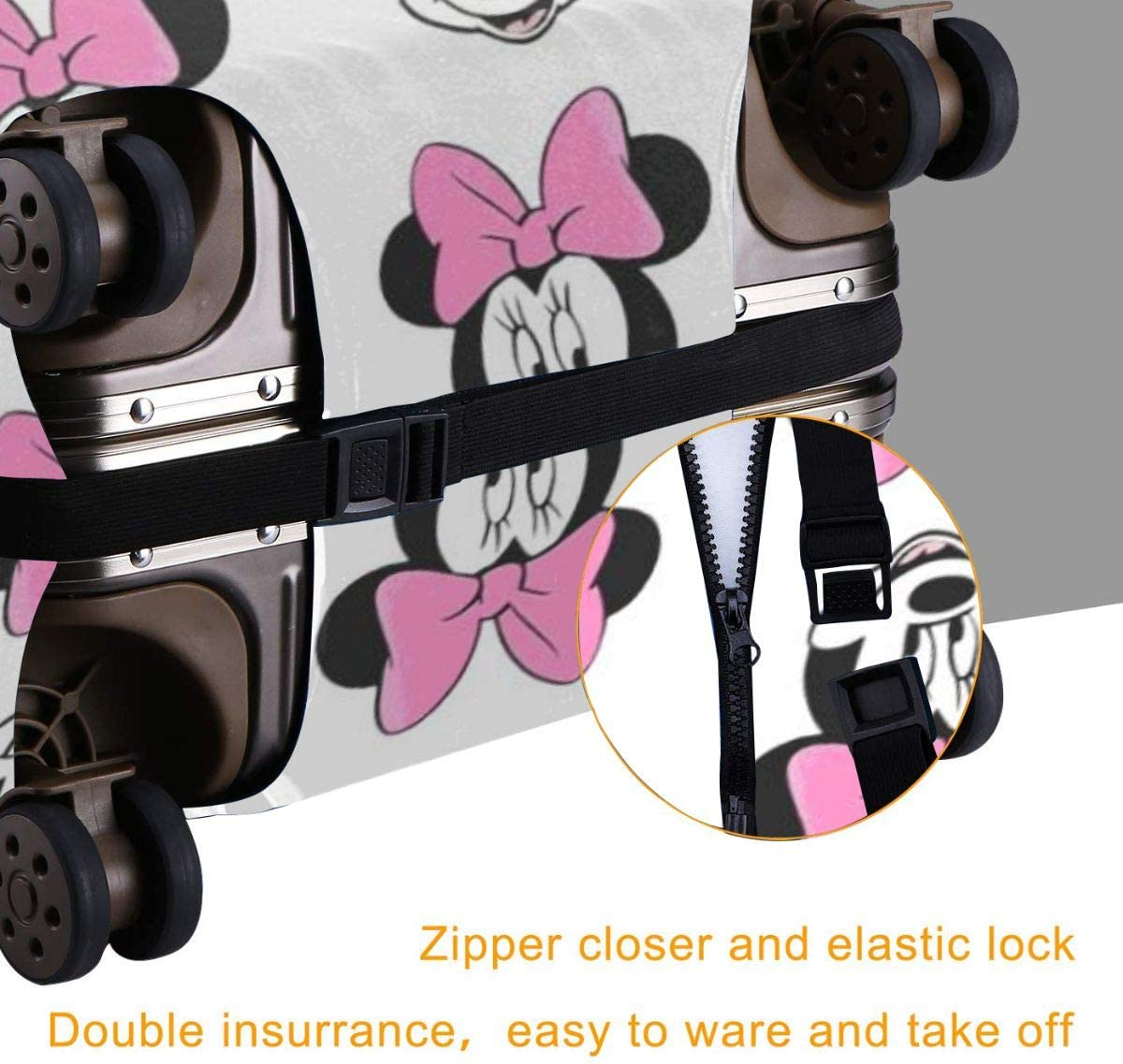 Suitcase Cover Mickey Mouse Minnie Trolley Travel Luggage Covers Suitcase Protector Washable Baggage Cover L