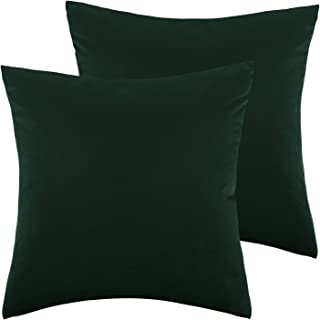 Lewondr Velvet Soft Throw Pillow Cover, 2 Pack Modern Solid Color Square Decorative Throw Pillow Case Cushion Covers for Car Sofa Bed Couch Home Christmas Decor, 18