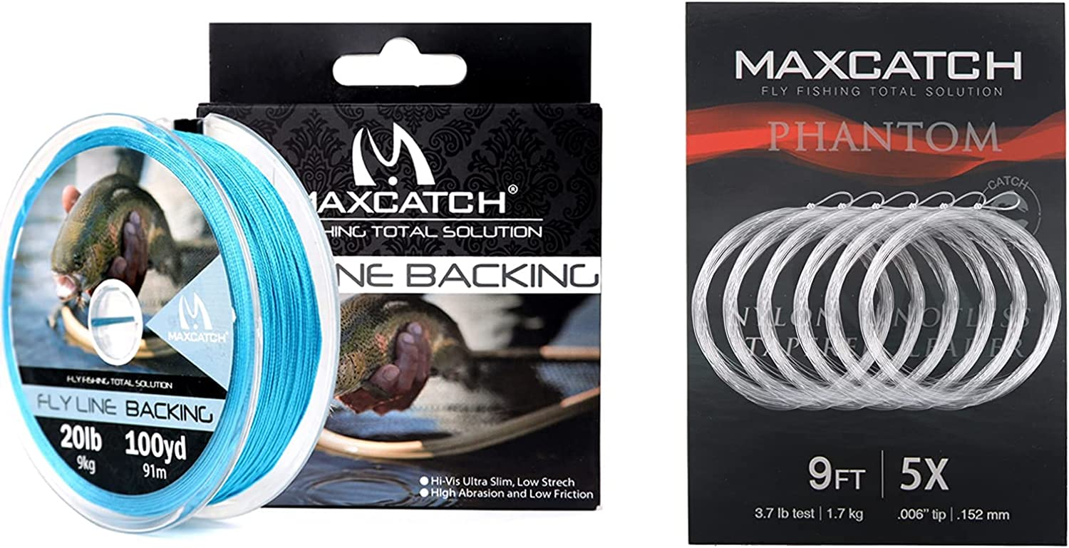 Maxcatch Fly Max 65% OFF Line Backing 20LB 100yds Blue+Fly Tapered Dedication L Fishing