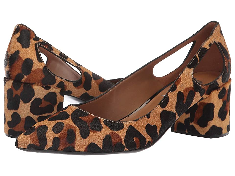 French Sole Courtney2 Heel (Beige Leopard Haircalf) Women