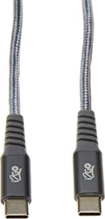 Cabo USB-C + USB-C I2GO 2m 3A Nylon Trançado Chumbo - I2GO PRO