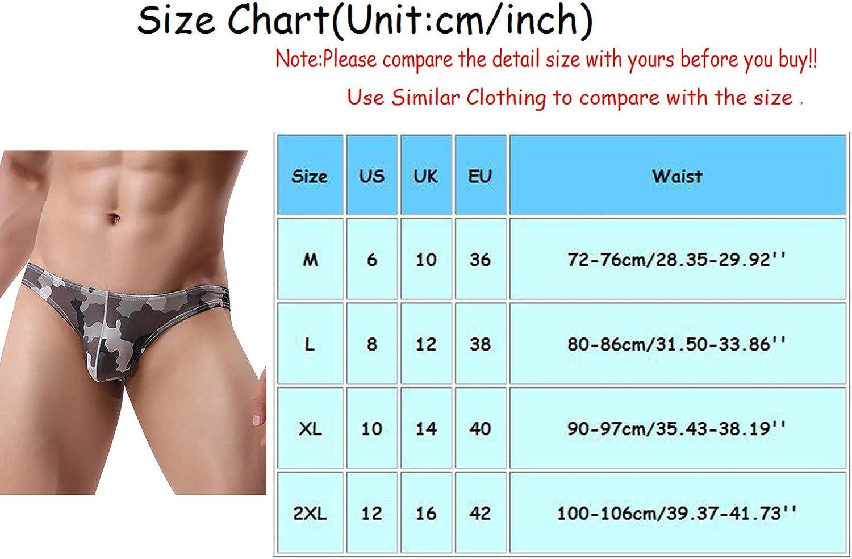 ZCAITIANYA Men's Underwear Thong Low Rise Stretch Bikini Pouch Camouflage Briefs