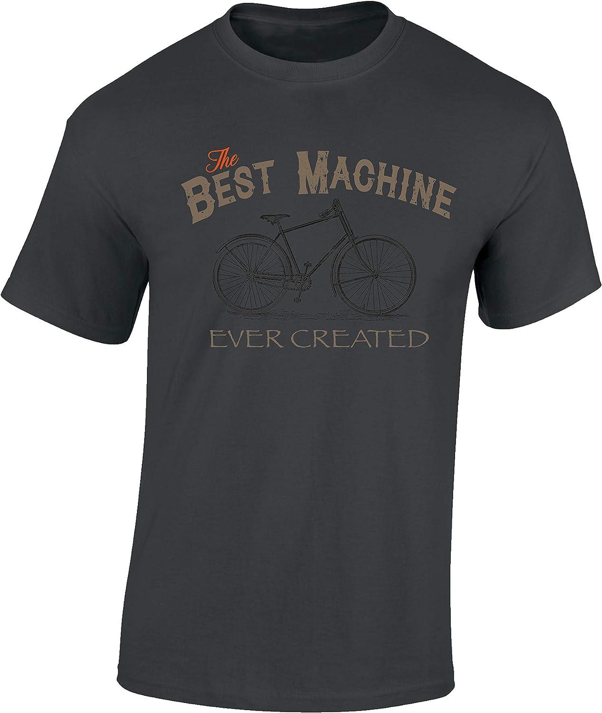Camiseta de Bicileta: Best Machine - MTB Mountain Bike T-Shirt Hombre-s y Mujer-es Regalo Ciclistas Bici BTT MTB BMX Regalos Deporte - Divertida-s - Ciclista - Retro - Fixie Outdoor
