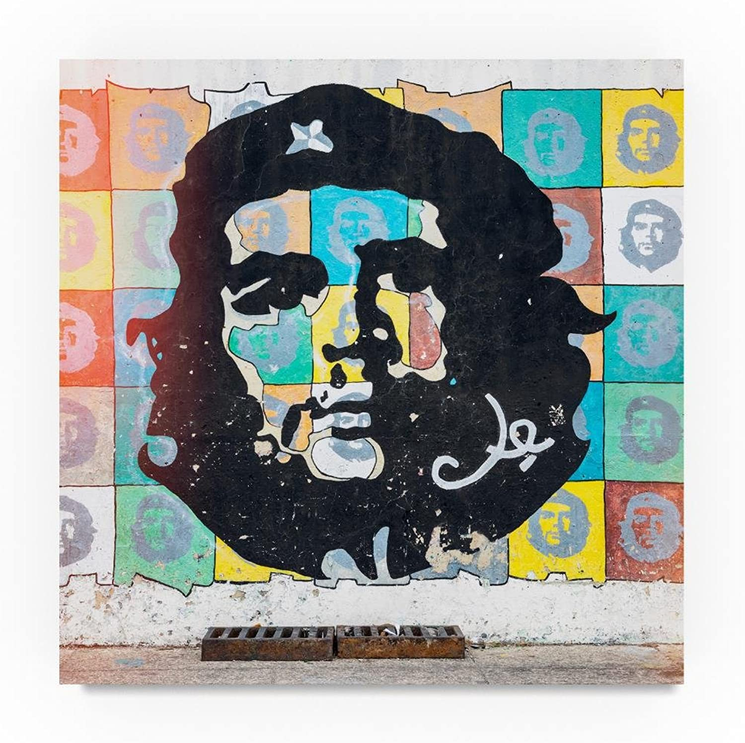 Trademark Fine Art Che Guevara Mural in Havana 5 by Philippe Hugonnard, Canvas Wall Art 14 x 14