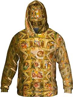 Allover Print Mens Hoodie Sweater Yizzam Alligator Fun Comic Retro