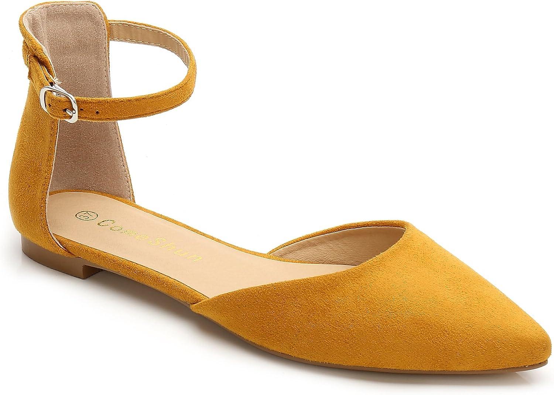 ComeShun Womens shoes Comfort Slingback D'Orsay Classic Flat Dress Pumps