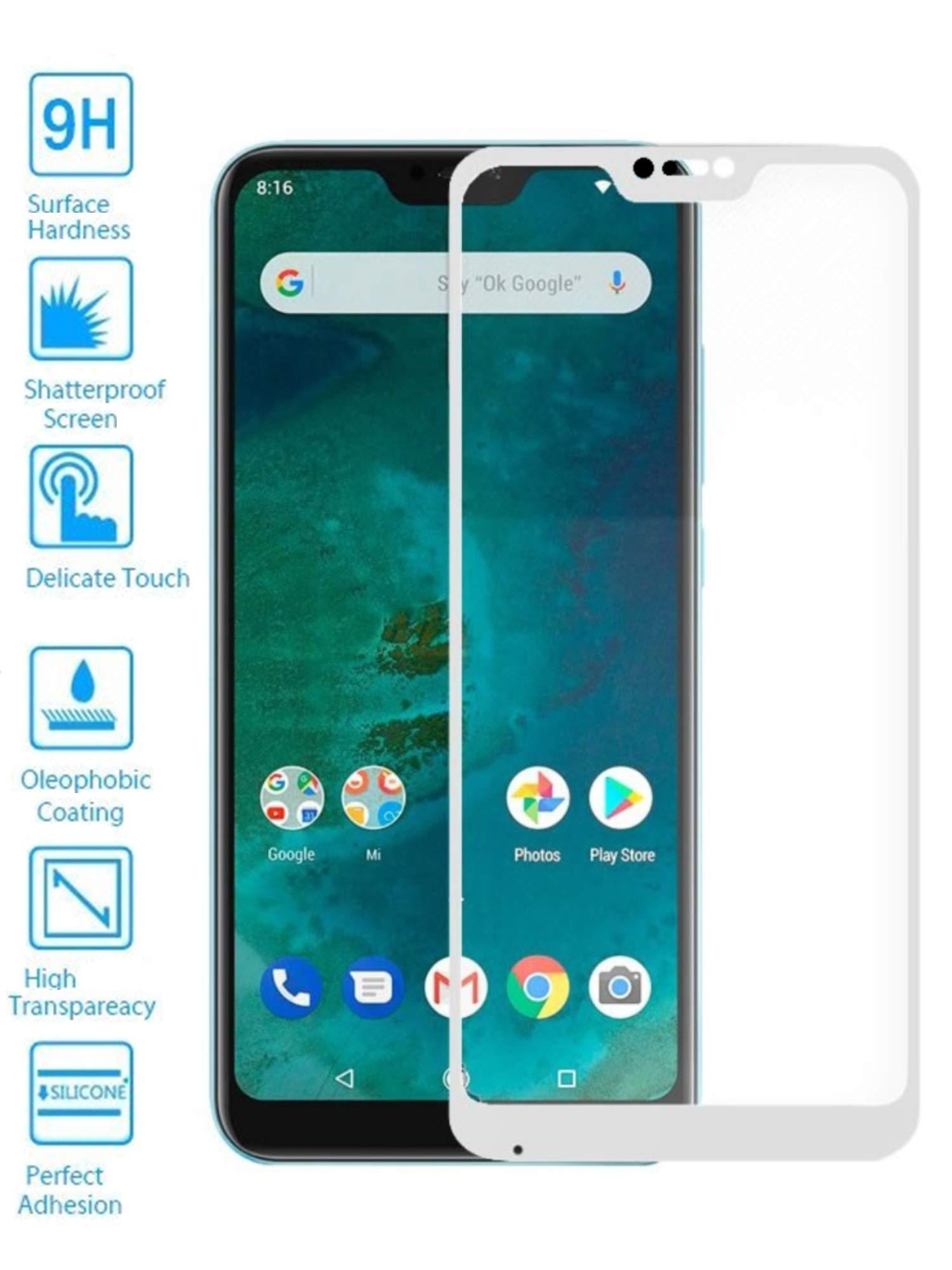 Todotumovil Protector de Pantalla Xiaomi Mi A2 Lite Blanco Completo 3D Cristal Templado Vidrio Curvo para movil: Amazon.es: Electrónica