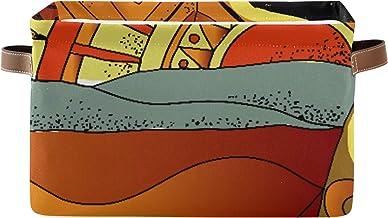 Boîtes de rangement pliables rectangulaires Paysage africain Paysage du sud Illustration dessinée à la main Boîtes de rang...