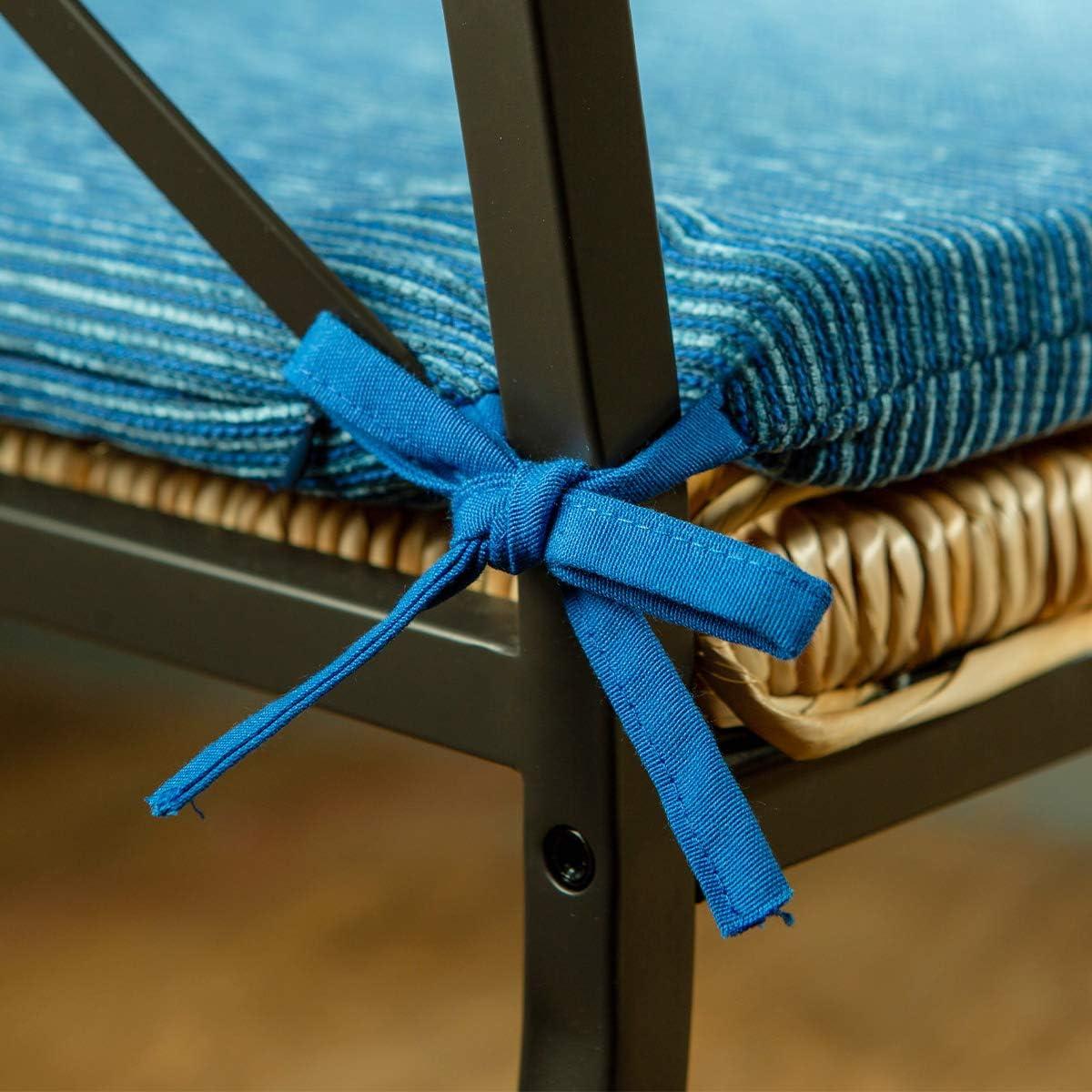 Giardino BCASE Patio Fodera in Polyster Etc Pack 6 Cuscini per Sedia e Sedile Terrazza Arancione Resistente Camera Facile da Pulire Soggiorno Imbottitura in Fibra 38x38cm per Cucina