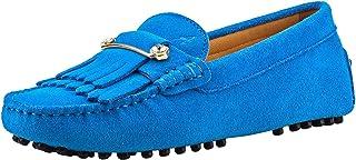 Shenduo Donna Pelle scamosciata Mocassino Flats nappa Mocassini in barca pantofole scarpe da guida