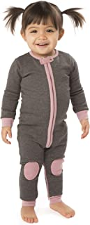 baby deedee Cotton Velour Long Sleeve Footless Romper Pajama, Dusty Rose, 18-24 Months