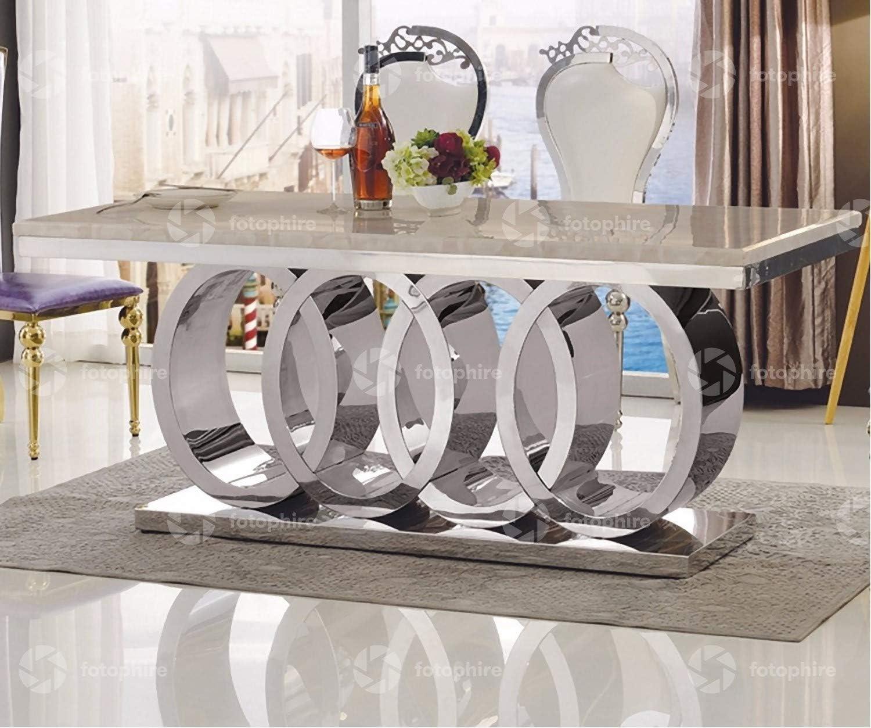 Italian Style Marble Dining Table 9cm Cream  Amazon.de Home ...
