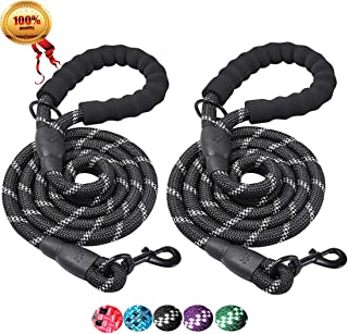 JBYAMUS 5 FT Reflective Dog Leash, Heavy Duty Dog Leash with Comfortable Padded Handle, Durable Nylon Encryption Braid Anti-Chewing for Medium and Large Dogs
