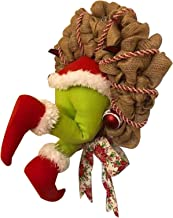 Heyeam How The Grinch Stole Christmas Burlap Wreath Christmas Garland Decorations Super Cute and Lovely Great Gifts for Fr...