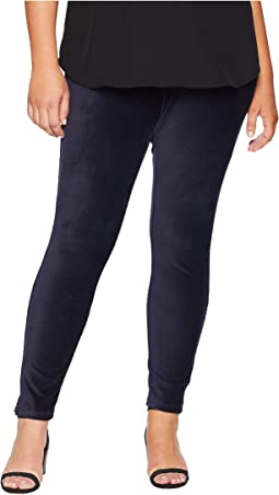 Plus Size High-Waist Corduroy Leggings