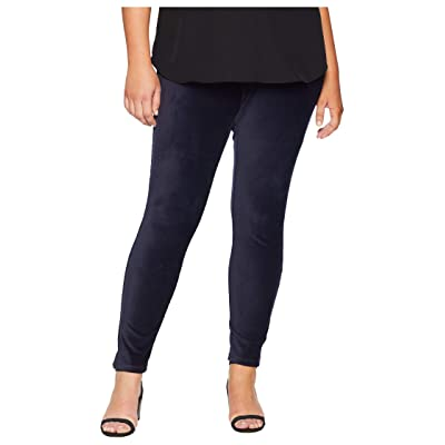 HUE Plus Size High-Waist Corduroy Leggings (Navy) Women