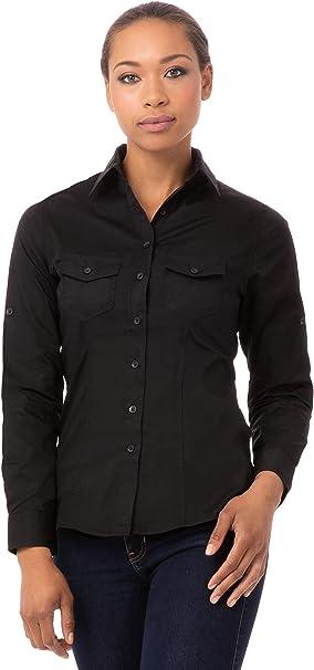 Uniforme obras b213-s señoras camisa de piloto, color negro ...