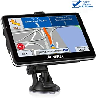 Car GPS,Aonerex 7 inch HD GGPS Navigation for Car,[2019 Upgraded Version] Real Voice Direction GPS Navigation System Built-in Free Lifetime Maps