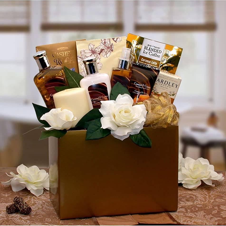 Gift Basket Drop Shipping Holiday Seasonal Personal Care Home Décor Caramel Inspirations Spa Gift Box