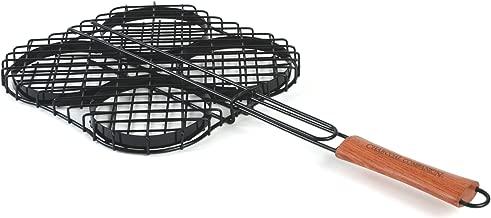 Charcoal Companion Nonstick Hamburger Grilling Basket