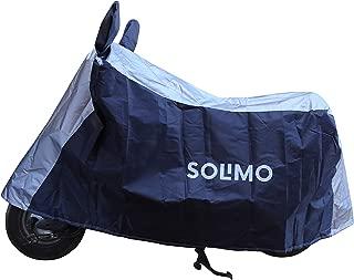 Amazon Brand - Solimo Honda Activa Water Resistant Bike Cover (Dark Blue & Silver)