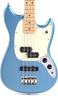 $574 » Fender Offset Series Mustang Bass PJ MN Lake Placid Blue w/3-Ply Mint Pickguard (CME Exclusive)
