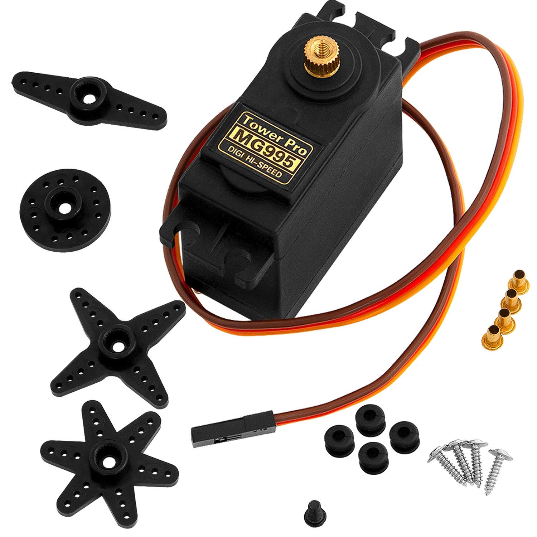 AZDelivery MG995 Micro Digital Servo Motor para RC Robot Avión Helicóptero compatible con Arduino con E-Book incluido!
