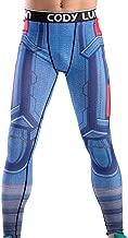Red Plume Men's Compression Elastic Tight Leggings Sport Leader Printing Pants (XXL Leader)