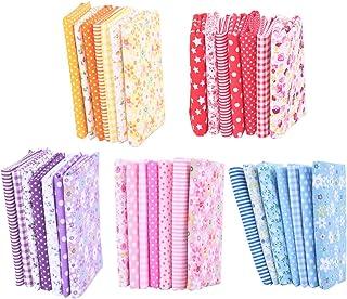 Conjunto de 35 peças de tecido de algodão floral estampado com patchwork quadrado para artesanato de retalhos, material de...