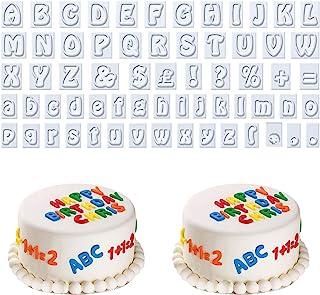 AvoDovA 64PCS Emporte Pièces Set, Emporte Pièce Lettres, Plastique Moule à Biscuit, Alphabet Découpoirs, Fondant Cutter po...