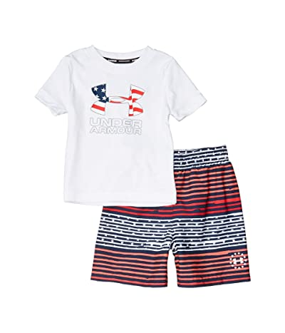 Under Armour Kids Freedom Gradient Stripe Volley (Toddler) (White) Boy