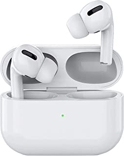 سماعات تحكم باللمس بلوتوث 5.1 تصميم ايربودز برو مع حافظة شحن لاسلكي وميزة إلغاء الضجيج والمساعد الصوتي/سيري لأجهزة آبل وأندرويد ومشغلات الموسيقى