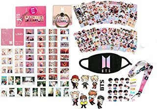 BTS Map of The Soul Persona Gifts Set for Army - 54Pcs BTS Lomo Cards/12 Sheet of BTS Stickers/2 Pack 3D Stickers/1 Pack BTS Lanyard/1 Pack BTS Finger Ring/1 Pack BTS Key Chain/2 Pack Tattoo Stickers